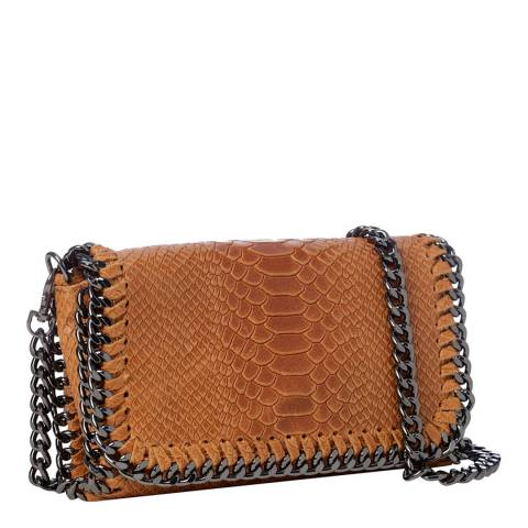 Lisa Minardi Beige Leather Clutch