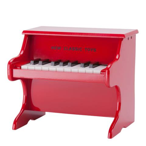 New Classic Toys Red 18 Key Grand Piano