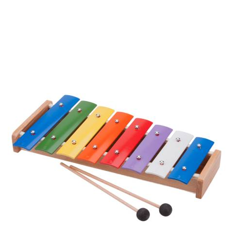 New Classic Toys 8 Bar Metallophone With Music Book