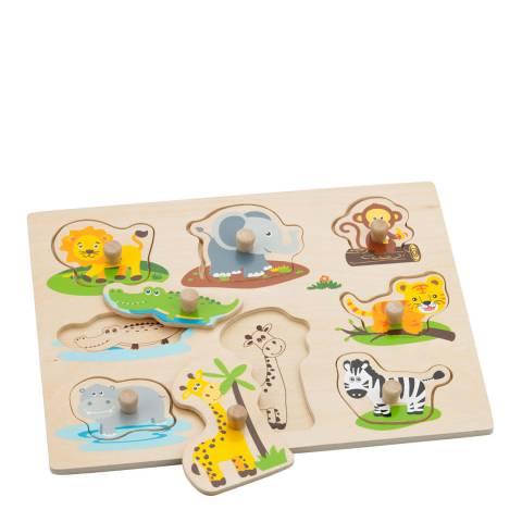 New Classic Toys Safari Peg Puzzle