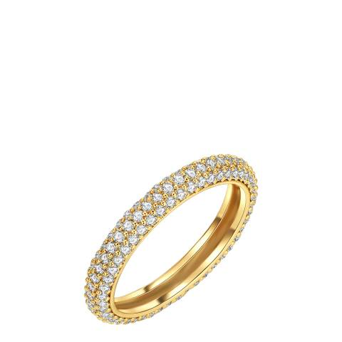 Tassioni Gold Plated Zirconia Lined Ring