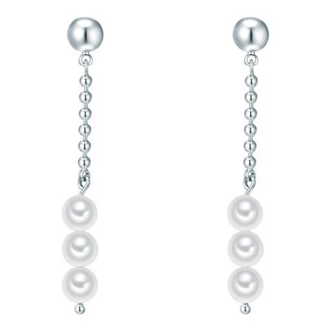 Nova Pearls Copenhagen Silver Plated Organic Pearl Drop Earrings