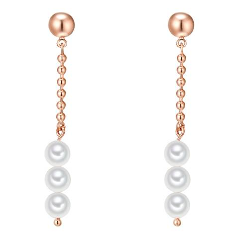 Nova Pearls Copenhagen Rose Gold Plated Organic Pearl Drop Earrings
