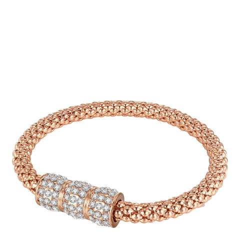 Runway Rose Gold Plated Glass Crystal Feature Bracelet