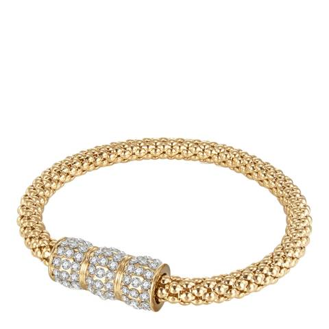 Runway Gold Plated Glass Crystal Feature Bracelet