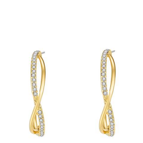 Runway Gold Crossover Hoop Earrings
