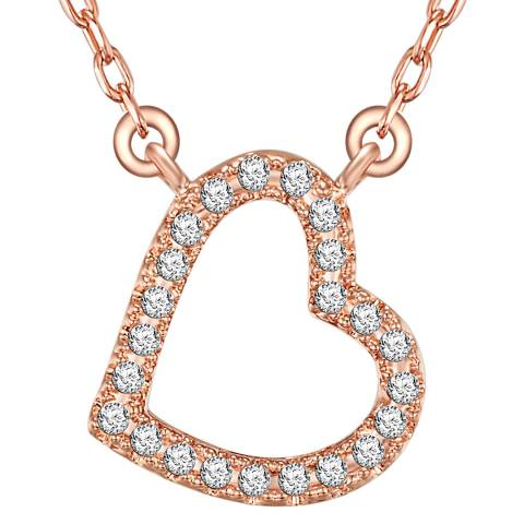 Runway Rose Gold Plated Heart Pendant Necklace