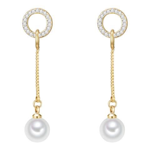 Nova Pearls Copenhagen Gold Plated Organic Pearl Drop Earrings