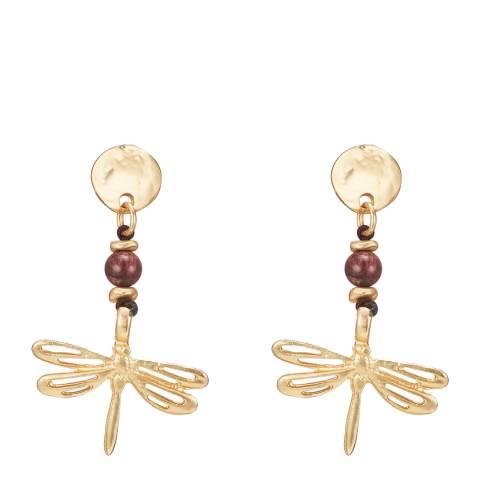 Runway Gold Beaded Drop Earrings
