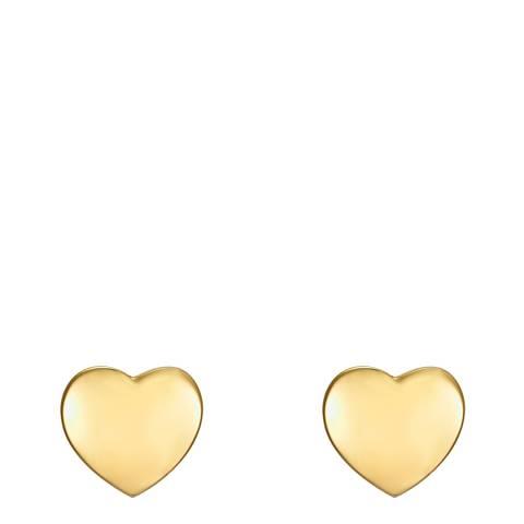 Runway Gold Heart Stud Earrings