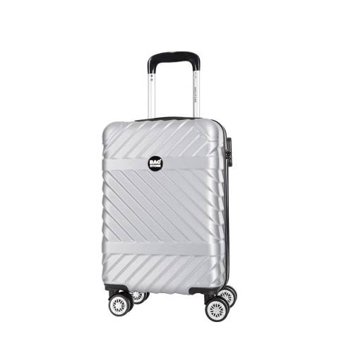 Bagstone Silver 8 Wheel Enjoy Suitcase 52cm
