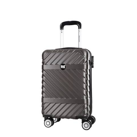 Bagstone Grey 8 Wheel Low Cost Enjoy Suitcase 52cm