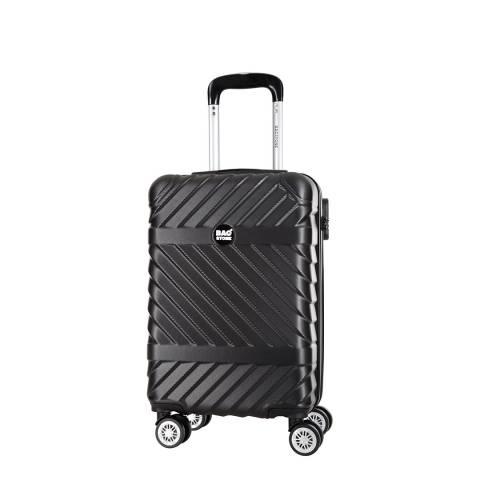 Bagstone Black 8 Wheel Low Cost Enjoy Suitcase 52cm