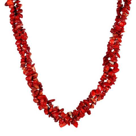 Liv Oliver Red Layered Necklace