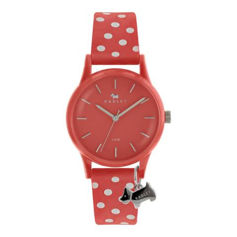 Radley Red Polka Dot Watch It! Rubber Watch