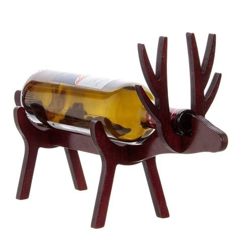 Christmas Bar Vinology Reindeer Bottle Display