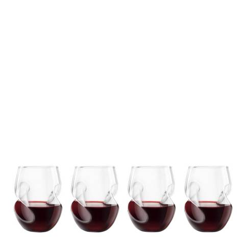 Christmas Bar Set of 4 Final Touch Conundrum Red Wine Glasses