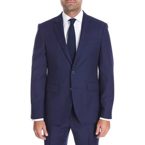 Jaeger Indigo Regular Textured Weave Wool Jacket
