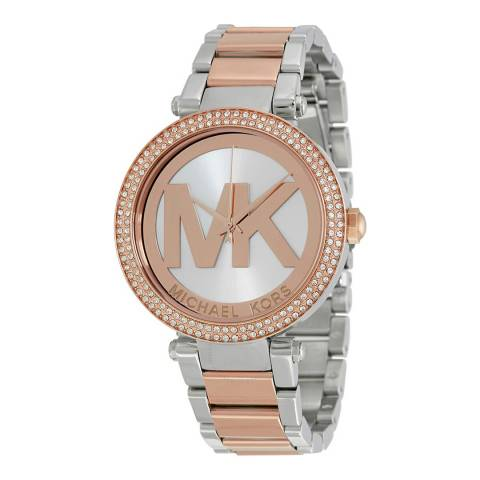 Michael Kors Rose Gold and Silver Michael Kors Parker Watch