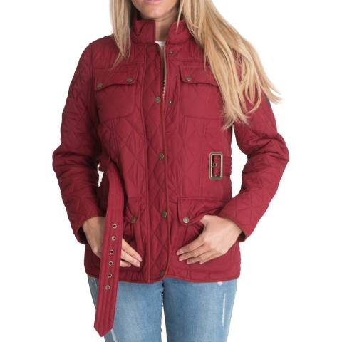 Harvey & Jones Red Brooke Quilted Jacket