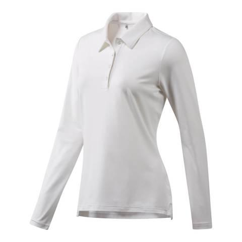 Adidas Golf White Essential Heather Polo