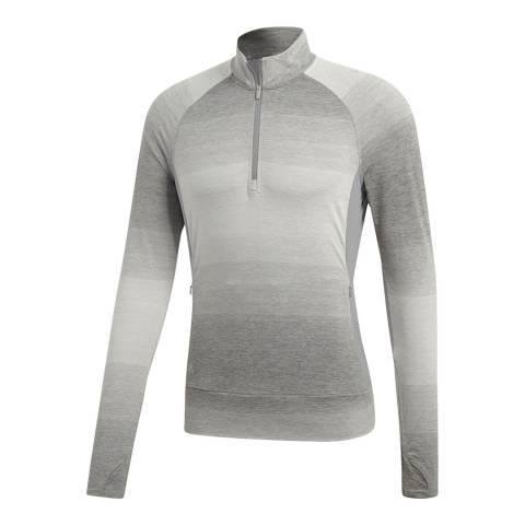 Adidas Golf Grey Rangewear Half Zip Top