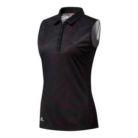 Adidas Golf Black Printed Sleeveless Polo