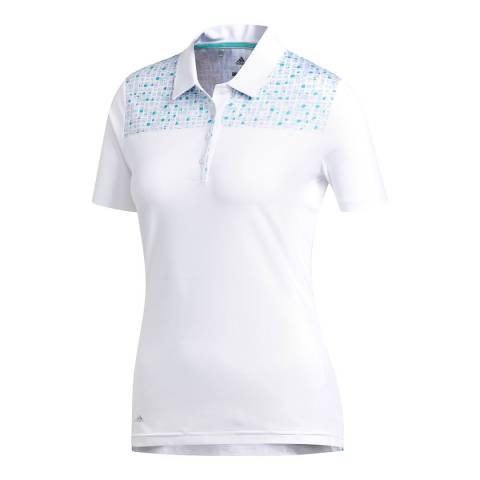 Adidas Golf White Ultimate Polo Shirt
