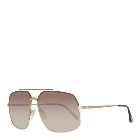 Tom Ford Women's Gold/Black Tom Ford Sunglasses 60mm