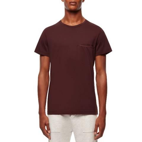 Kent & Curwen Dark Red Drudi Cotton T-Shirt