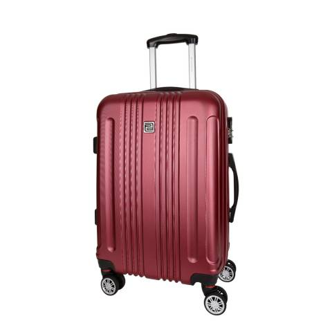 Platinium Bordeaux Stafford 8 Wheeled Suitcase 56cm