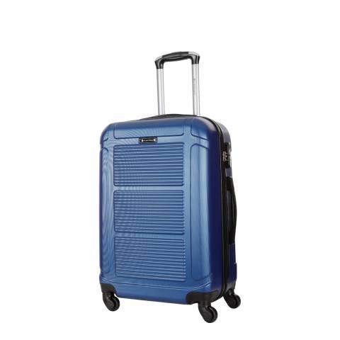 Platinium Blue Basildon 4 Wheeled Suitcase 50cm