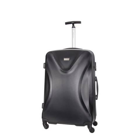 Platinium Black Athenes 4 Wheeled Suitcase 50cm