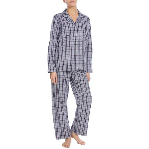 DEREK ROSE Pink/Black Bark Classic Pyjama Set