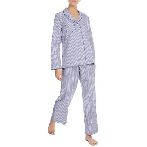 DEREK ROSE Blue Cannon Classic Pyjama Set