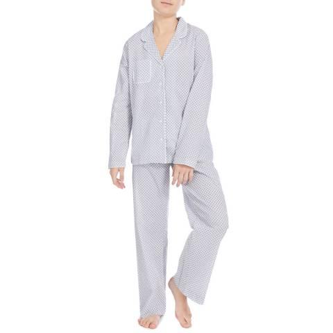 DEREK ROSE Silver Ledbury Classic Pyjama Set