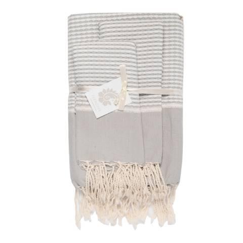 Febronie Copenhagen Set of 3 Bathroom Hammam Towels, Pearl