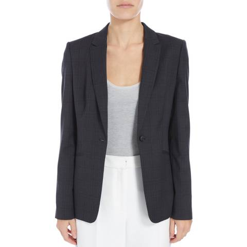 Boss by Hugo Boss Dark Grey Jabina Wool Blend Jacket