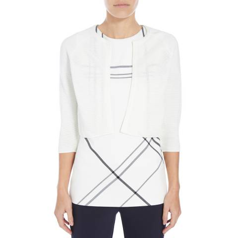 Boss by Hugo Boss Ivory Faria Ribbed Cardigan