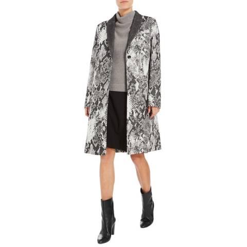 Boss by Hugo Boss Grey/Multi Cemana Wool Blend Coat