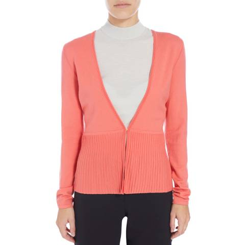 Boss by Hugo Boss Pink Fily Wool Blend Cardigan