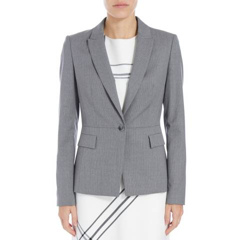 Boss by Hugo Boss Grey Jifabio Wool Blend Jacket