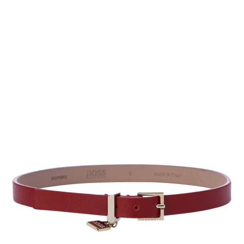Boss by Hugo Boss Red Berlin Italian Leather Wrap Bracelet