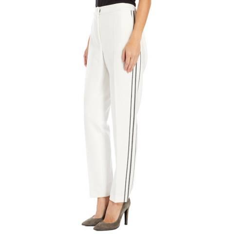 Boss by Hugo Boss White/Grey Stripe Alirana Trousers