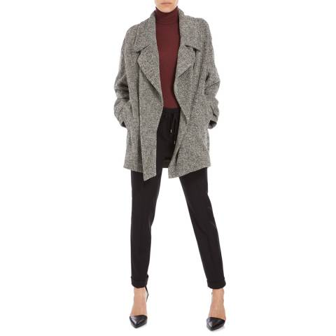 Boss by Hugo Boss Grey Cirama Textured Coat