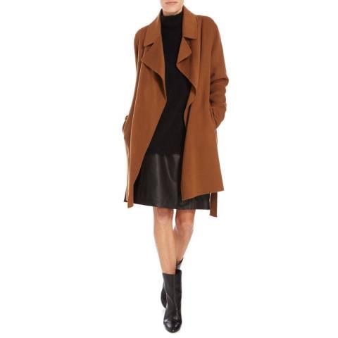 Boss by Hugo Boss Rust Copper Citana Cashmere Blend Coat