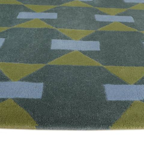 Green Multi Patterned Limited Edition Rug 244x152cm