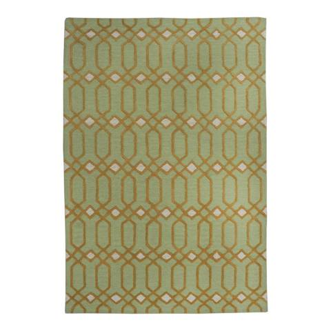 Mint Green Limited Edition Patterned Rug 244x152cm