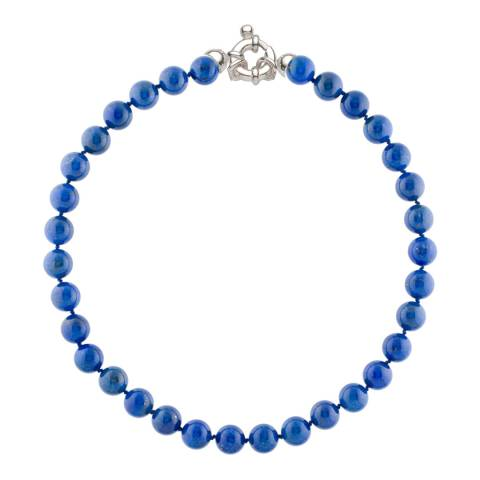 Alexa by Liv Oliver Blue Lapis Beaded Necklace