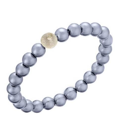 Alexa by Liv Oliver Grey Pearl and Matt Sterling Silver Bracelet